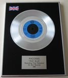 MADONNA - TRUE BLUE PLATINUM single presentation DISC